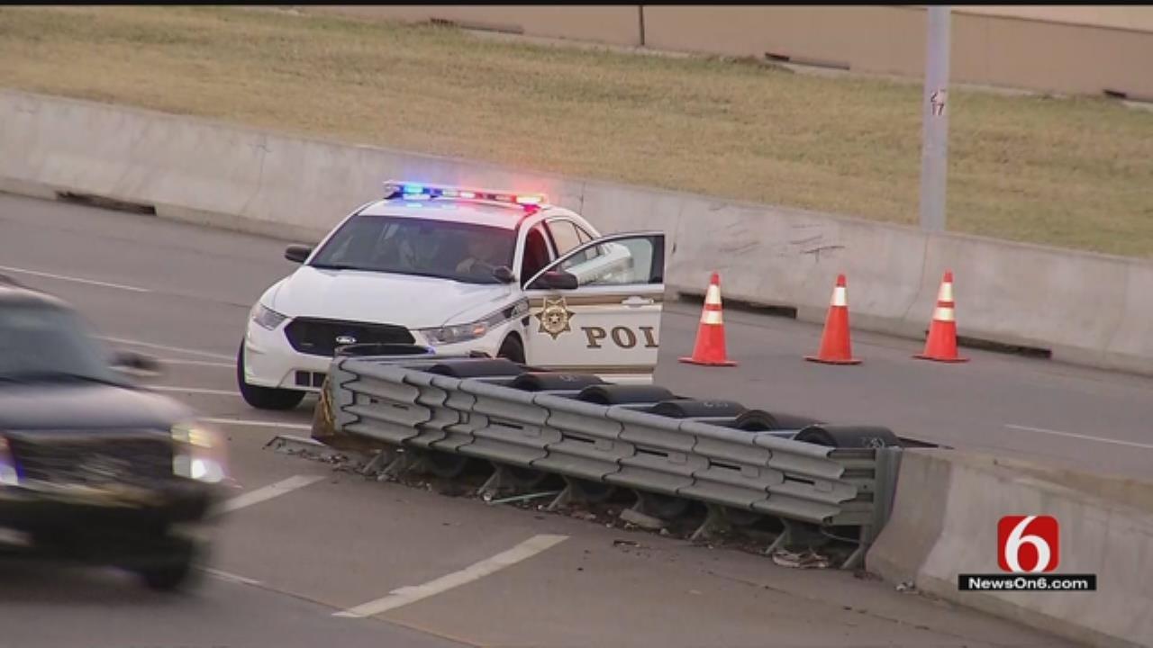 Motorcyclist Thrown Off Bridge In Tulsa Wreck