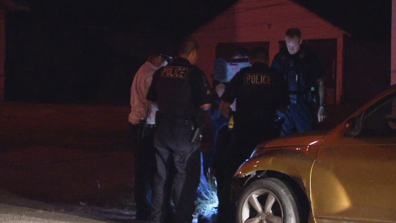 WEB EXTRA: Video From Scene Of Arrest Of Tulsa Burglary Suspect