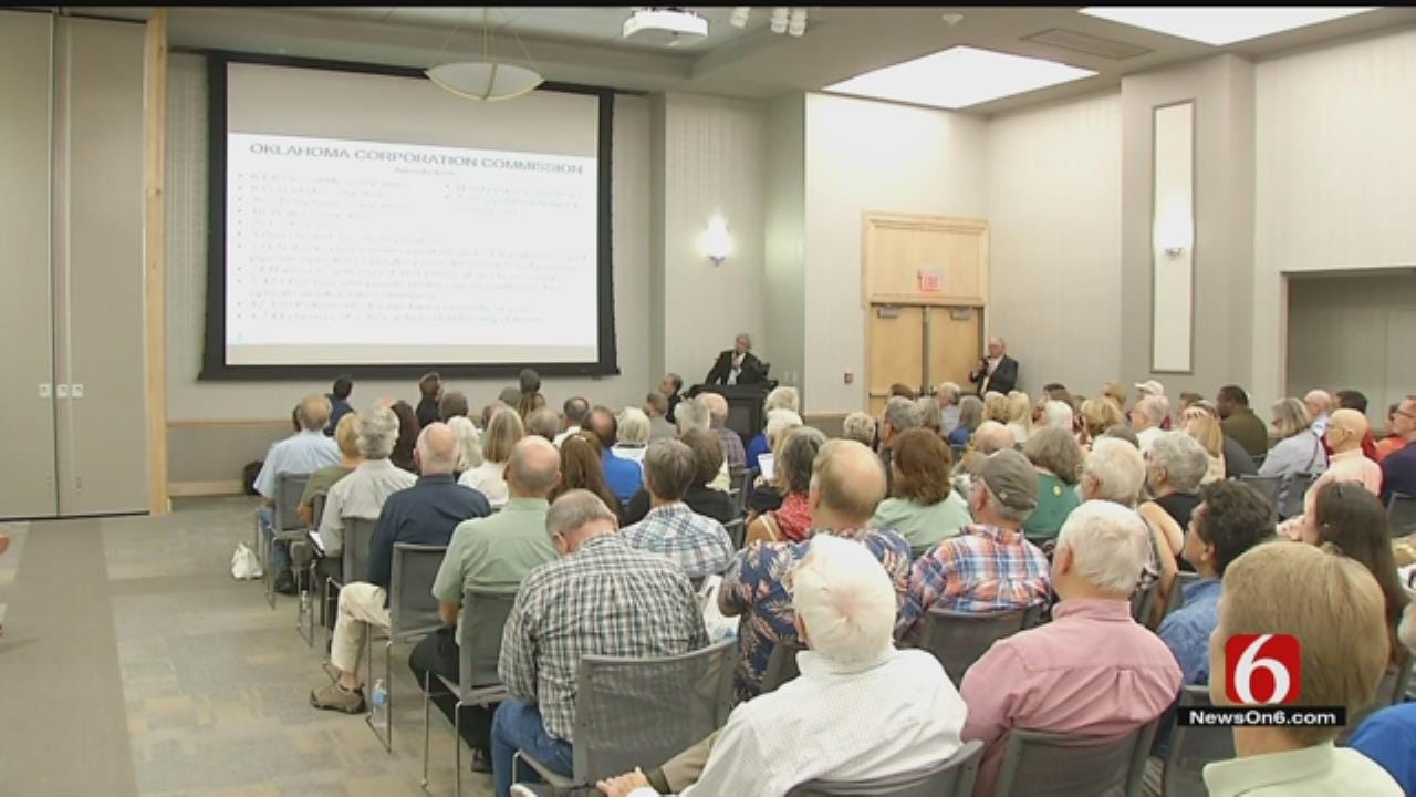 Hundreds Listen As Scientists Discuss Possible Causes Of OK Quakes