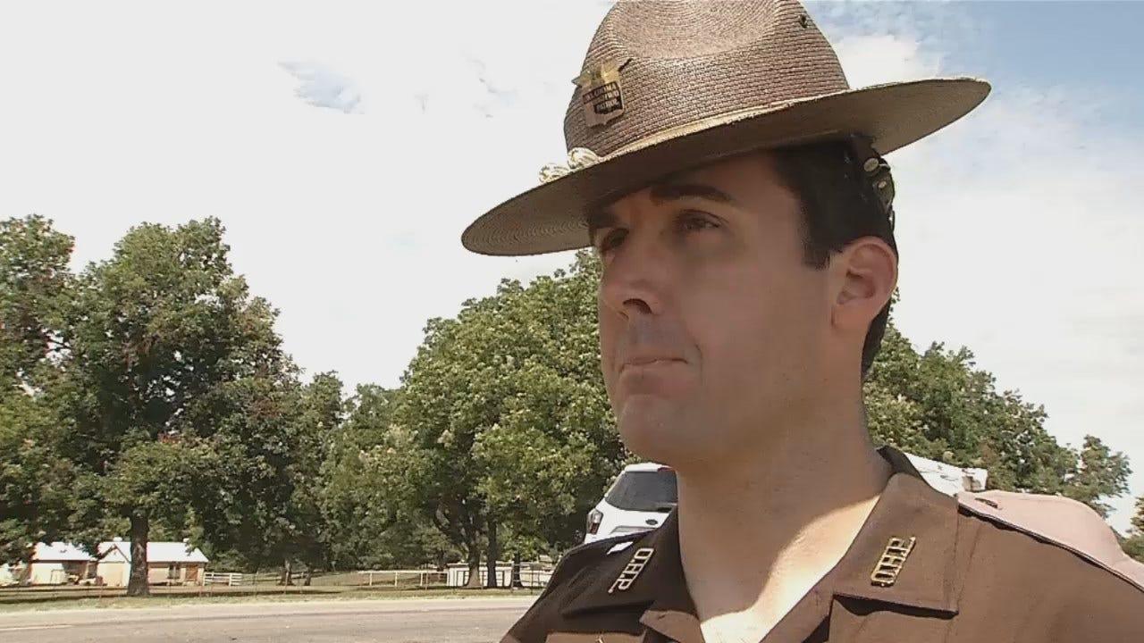 WEB EXTRA: Oklahoma Highway Patrol Trooper John Ysbrand Talks About Crash