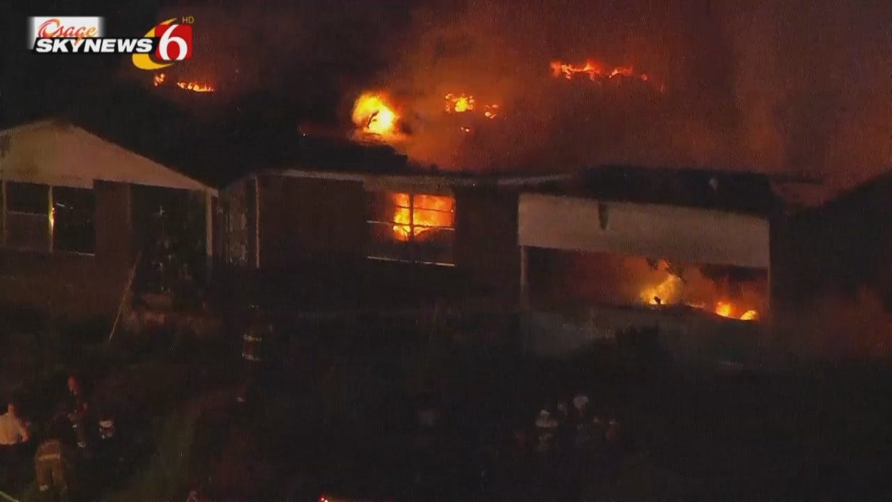WEB EXTRA: Video From Scene Of Sapulpa House Fire