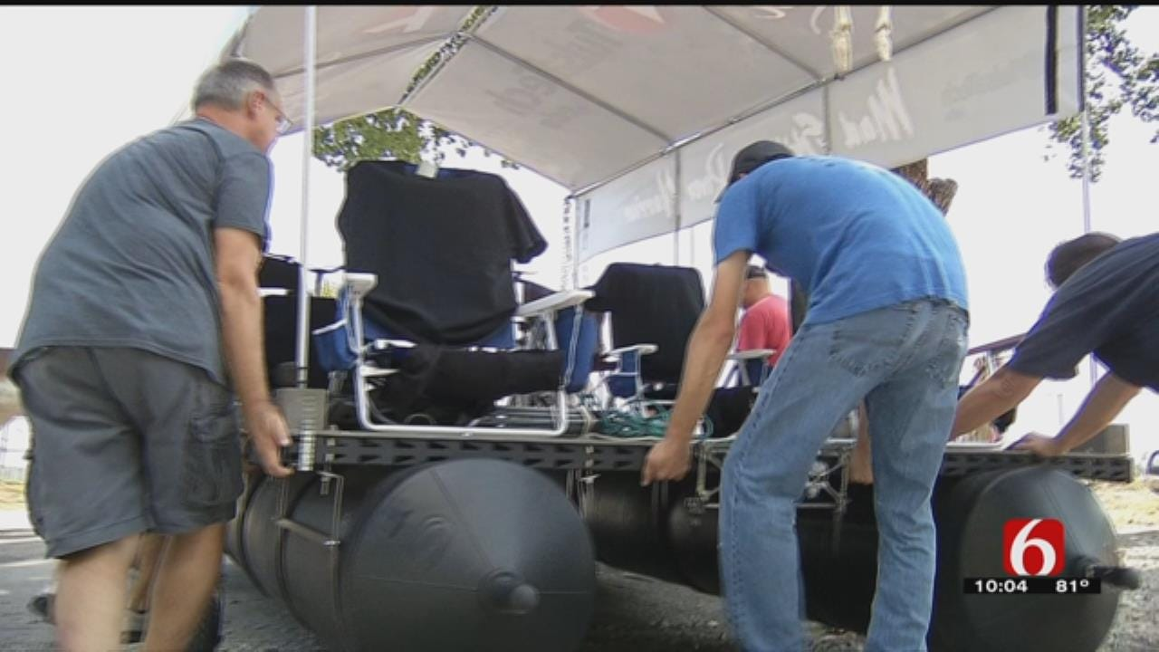Crews Make Final Preps For This Year's Tulsa Great Raft Race