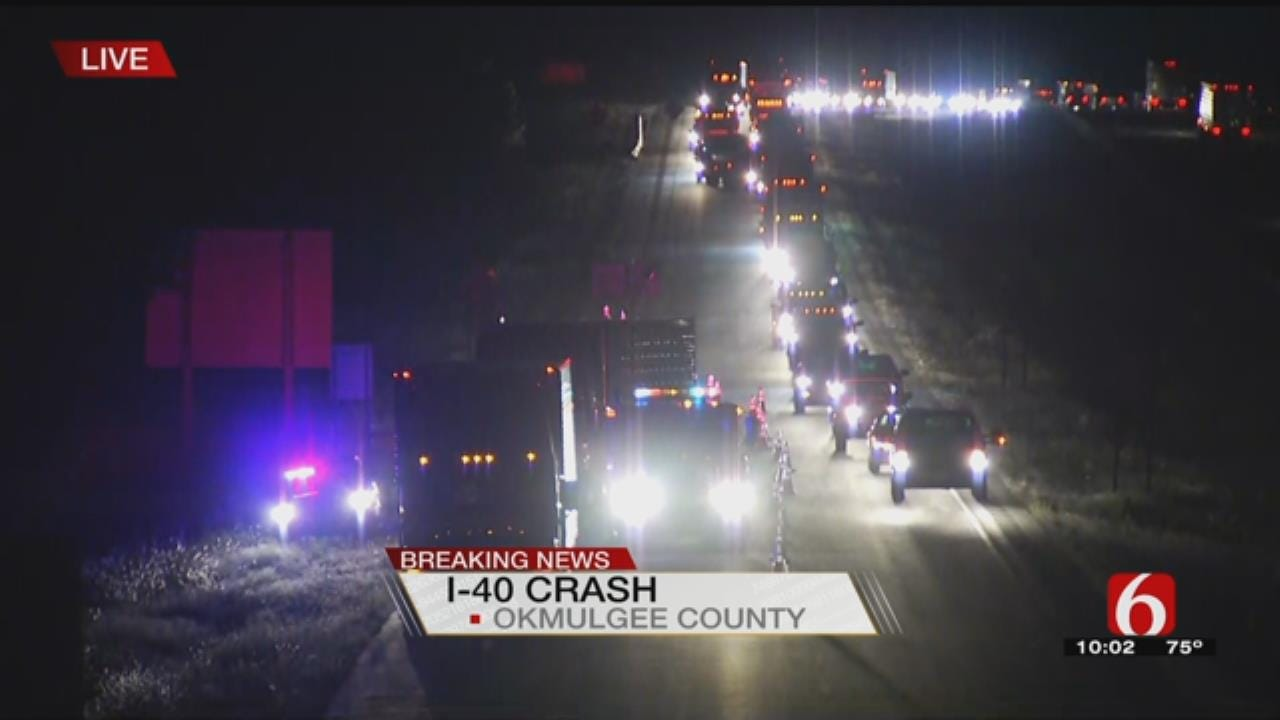 Crash Closes Eastbound Lane Of I-40 Near Henryetta