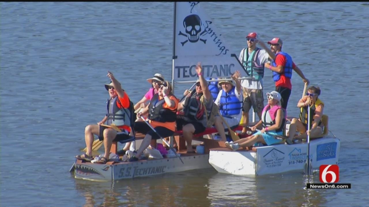 Tulsans Ready To Race Down Full River For Great Raft Race
