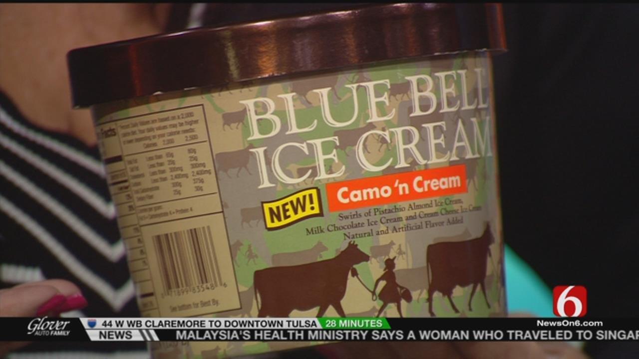 Blue Bell Announces 'Camo 'n Cream' As New Ice Cream Flavor