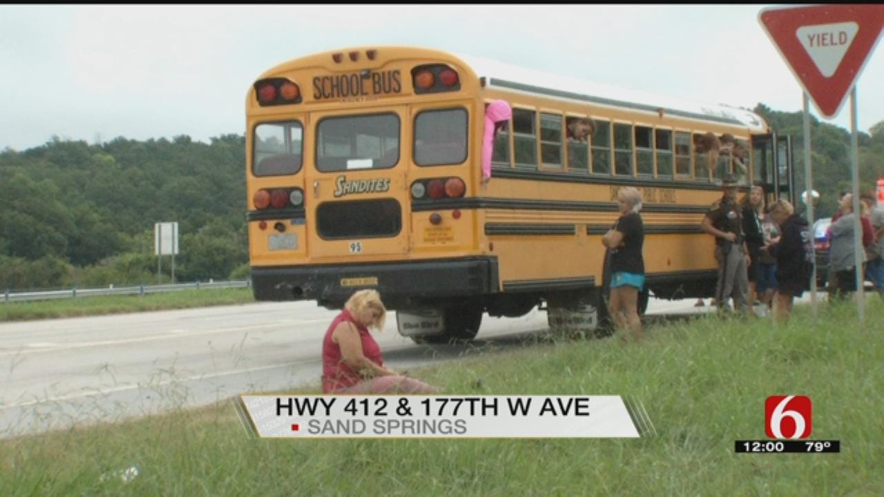 Sand Springs School Bus Involved In Wreck
