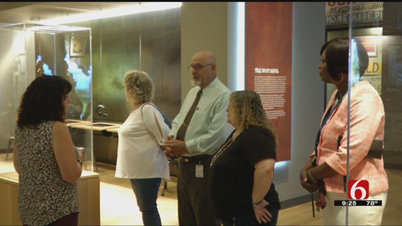 Tulsa City Councilors Tour Woody Guthrie Center