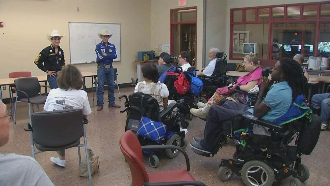 Professional Bull Riders Give Back To Oklahomans Overcoming Physical Challenges
