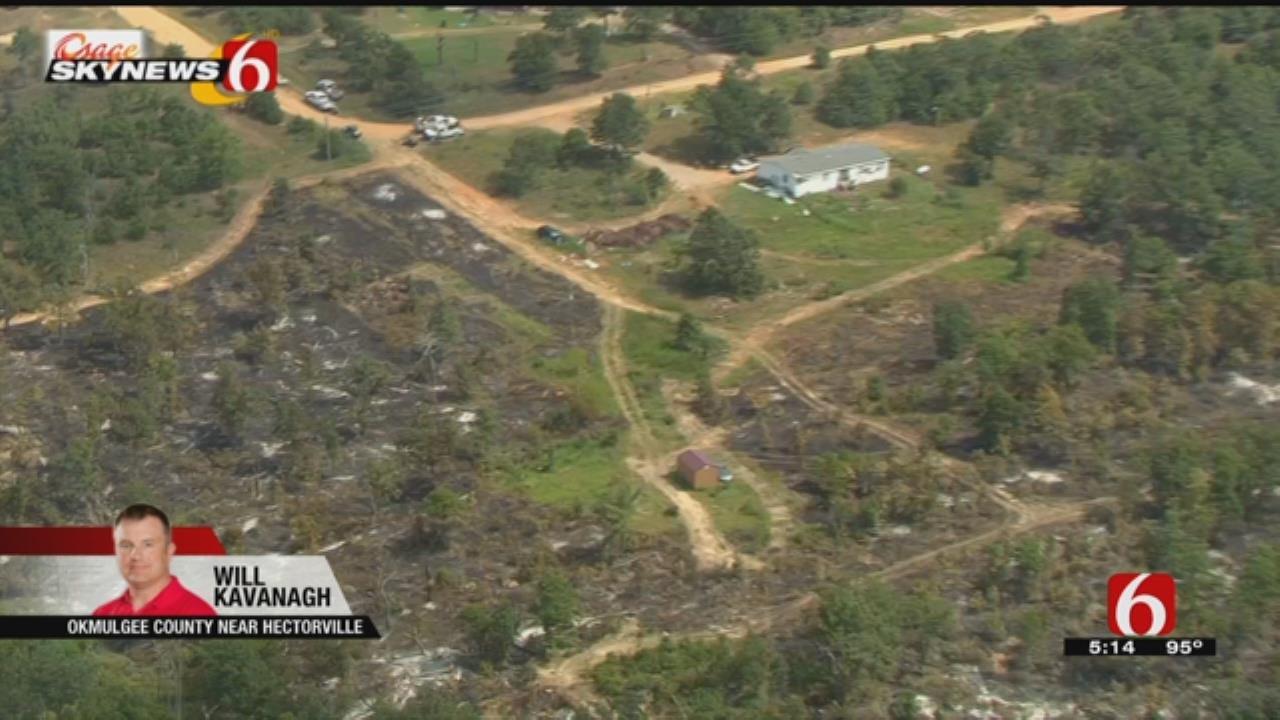 Osage SkyNews 6 HD: Okmulgee County Wildfire