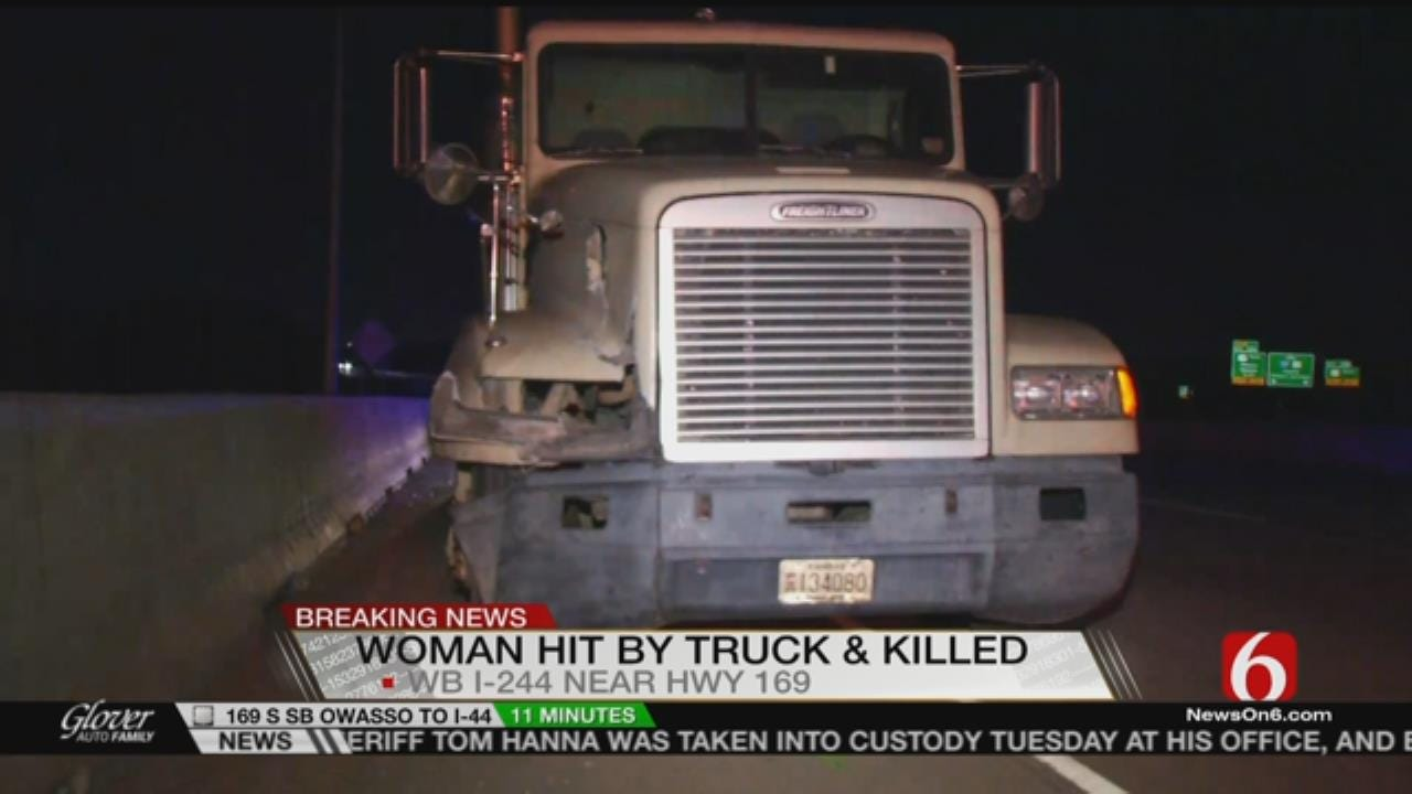 Woman Dies After She Was Hit By Semi On Tulsa's I-244