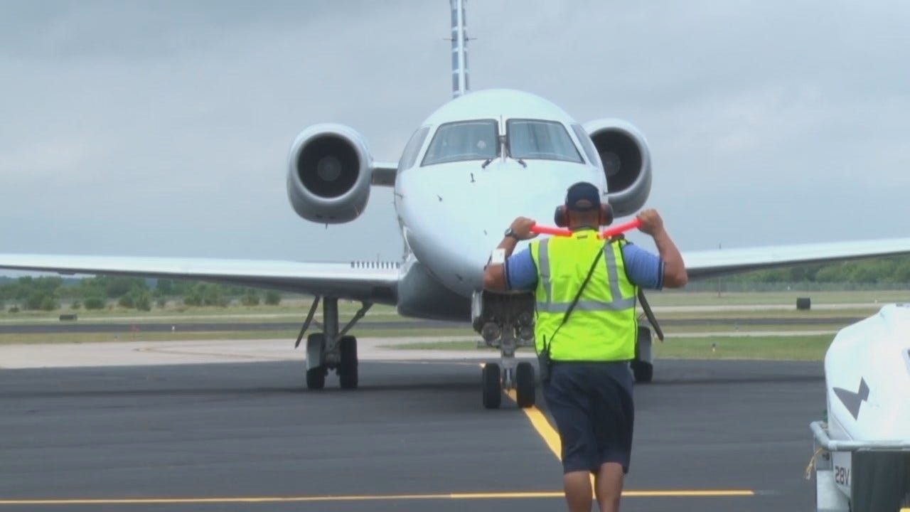 WEB EXTRA: First American Airline's Flight To Stillwater's Regional Airport