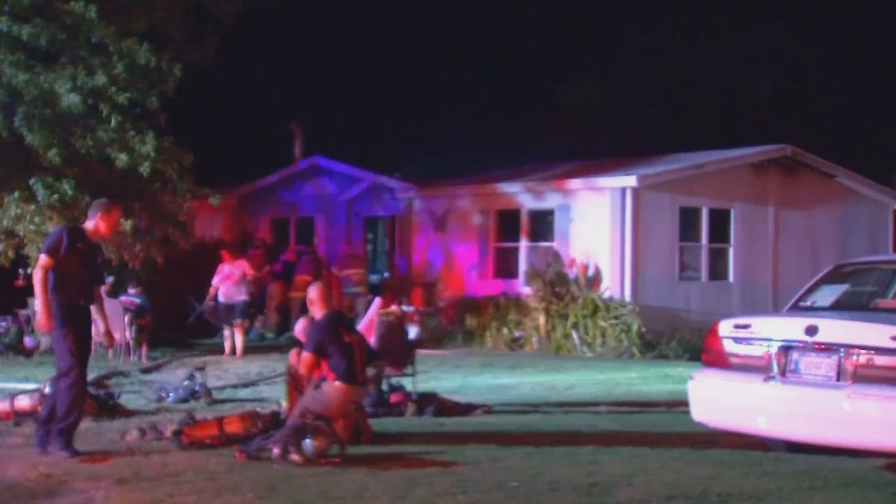 WEB EXTRA: Video From Scene Of Tulsa County House Fire