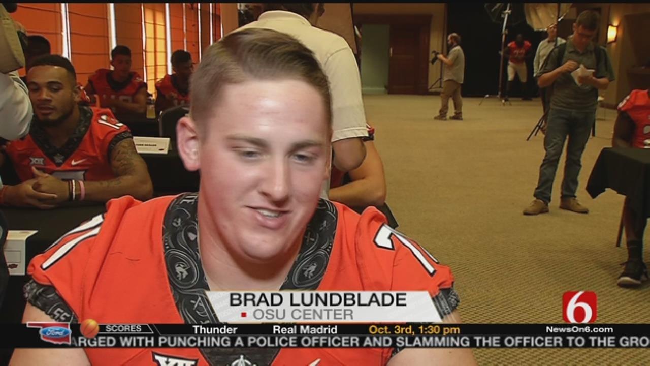 OSU Football: Brad Lundblade Talks Offensive Line