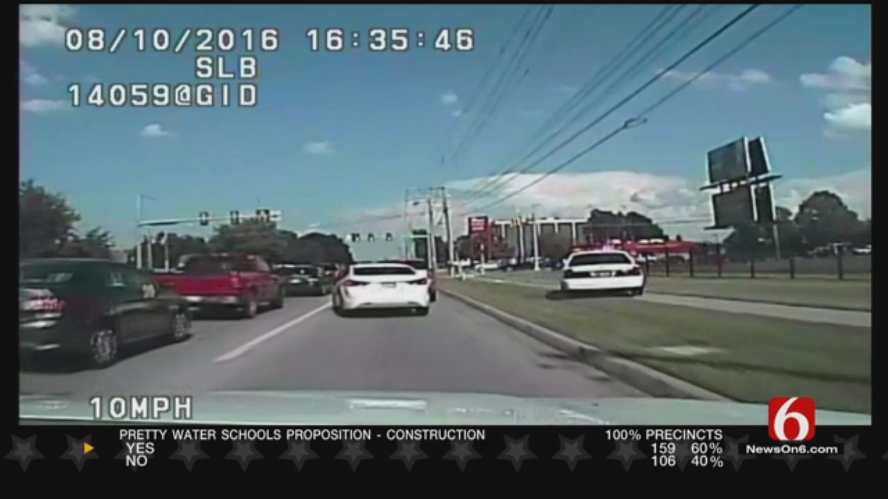 Dashcam Video Shows Chase Between TPD, Murder Suspect