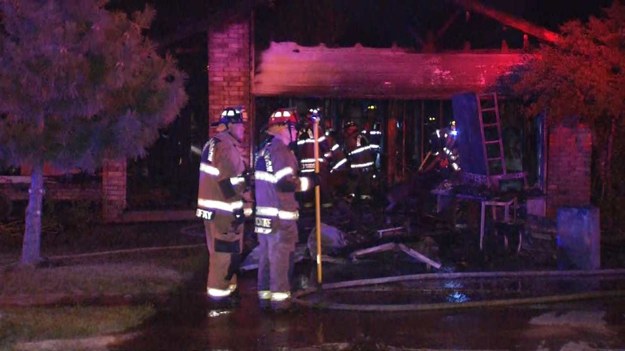 Dave Davis Reports On Broken Arrow House Fire