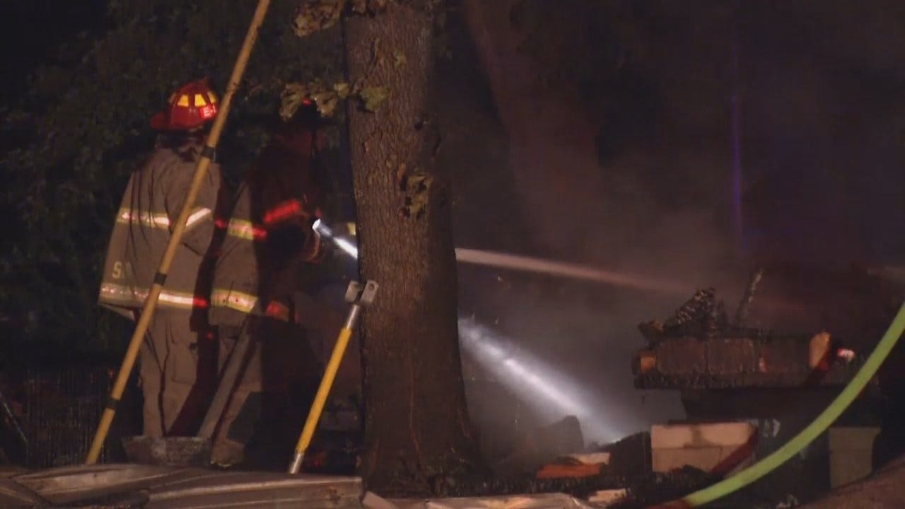 WEB EXTRA: Video From Scene Of Creek County House Fire