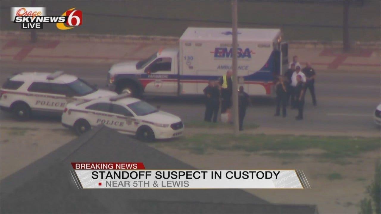 Osage SkyNews 6 HD: Tulsa Bomb Threat, Standoff Ends With Arrest