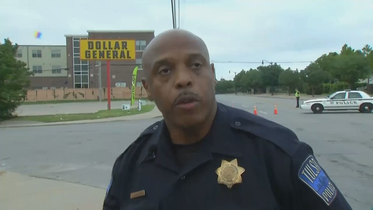 WEB EXTRA: Tulsa Police Officer Leland Ashley Talks About Threat Suspect Arrest
