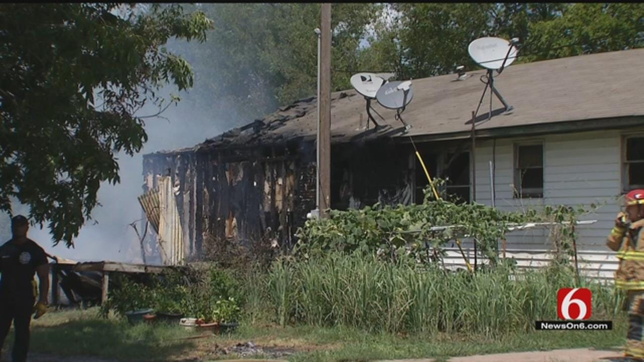 Tulsa, Owasso Firefighters Battle House Fire
