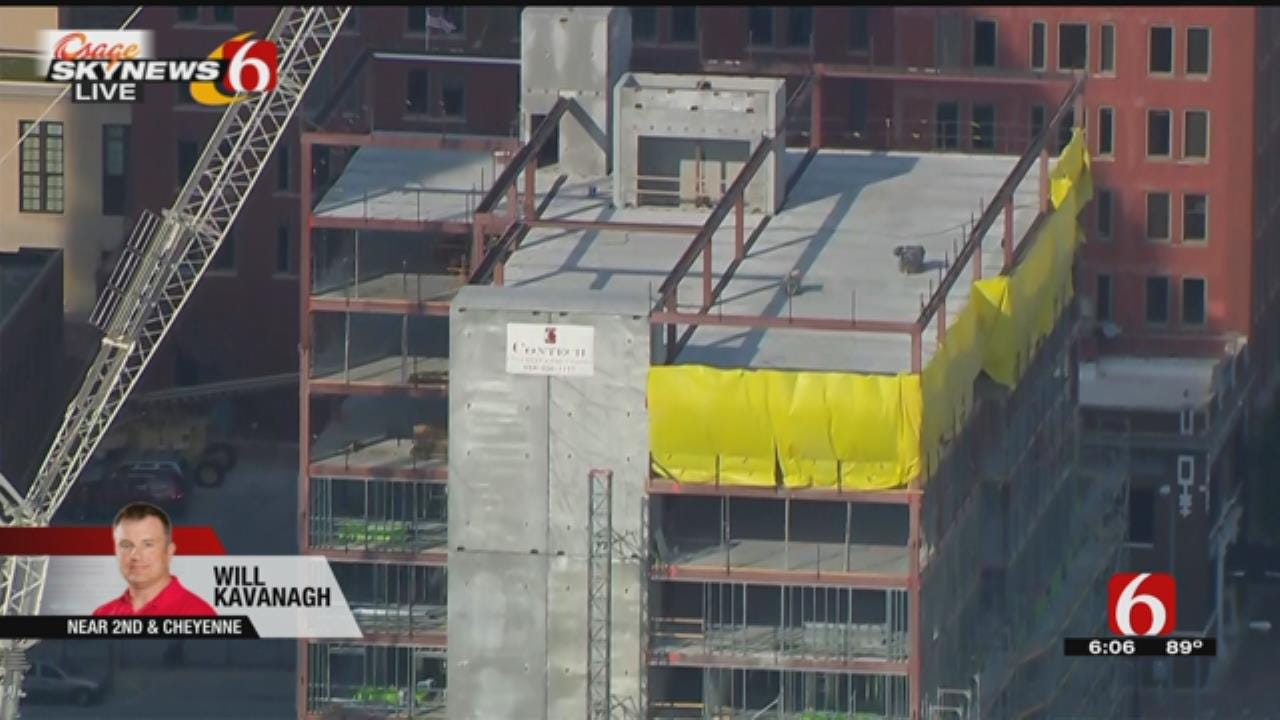 Downtown Tulsa Hotel Holds Topping Out Ceremony