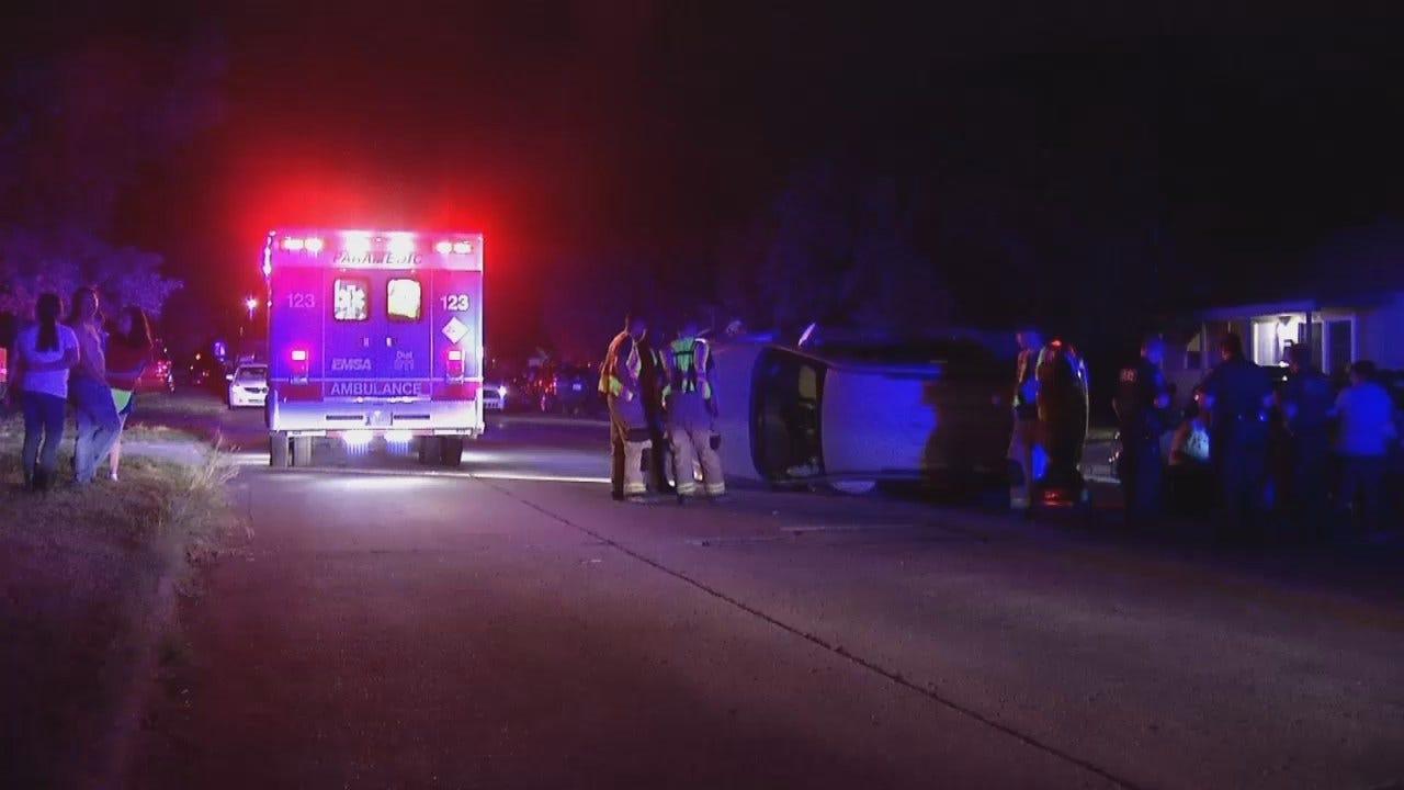 WEB EXTRA: Video From Scene Of Tulsa Crash Early Saturday