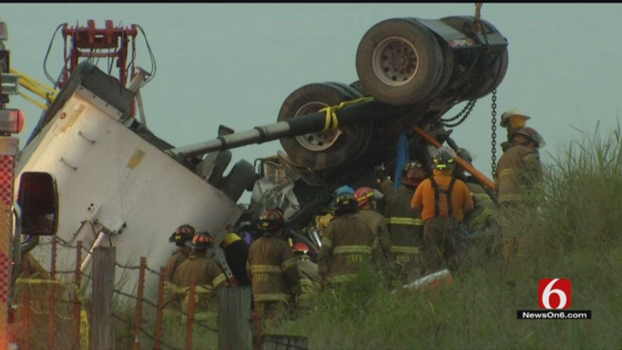 Semi Driver Recalls Harrowing Moments As Crews Worked To Rescue Him