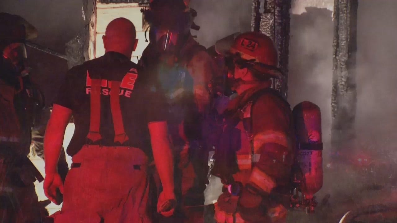 WEB EXTRA: Video From Tulsa House Fire