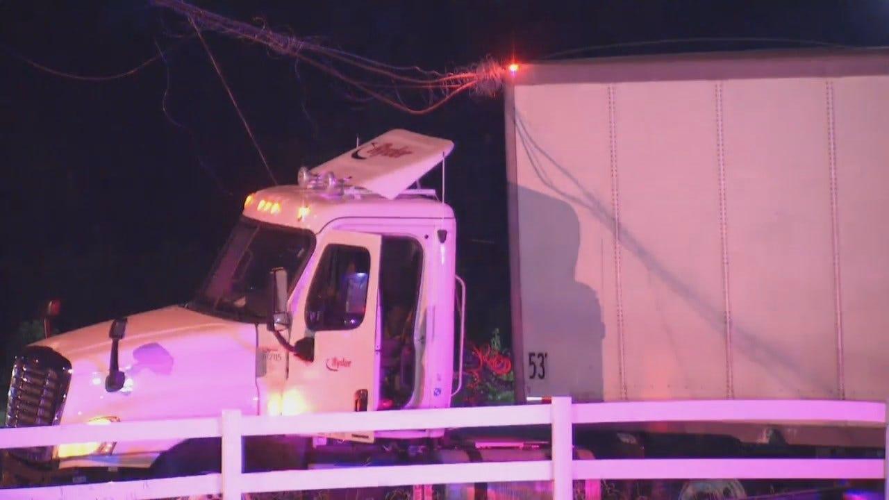 WEB EXTRA: Video From Scene Of Semi Crash Near Glenpool