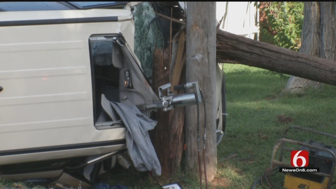 Driver Critical After Tulsa Rollover Crash