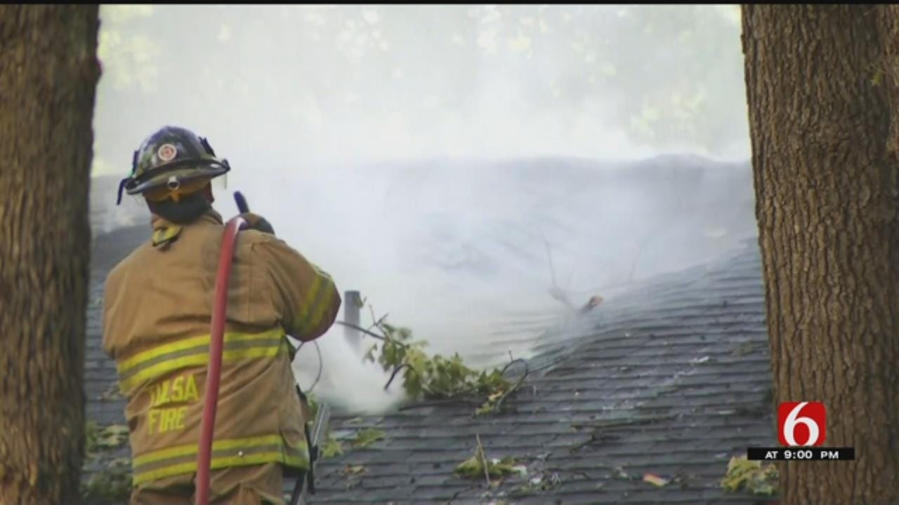 South Tulsa Fire Destroys Home, Firefighters Say