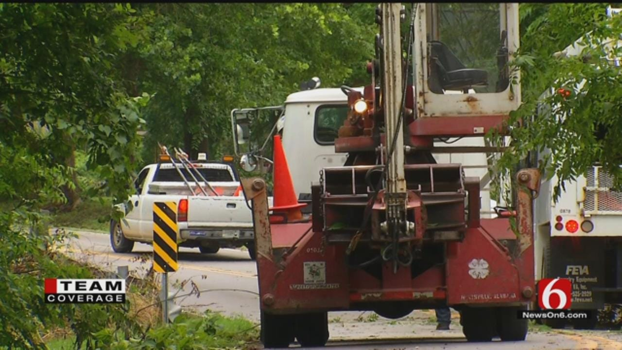 Cleanup Efforts Begin In Tulsa After Midweek Storm