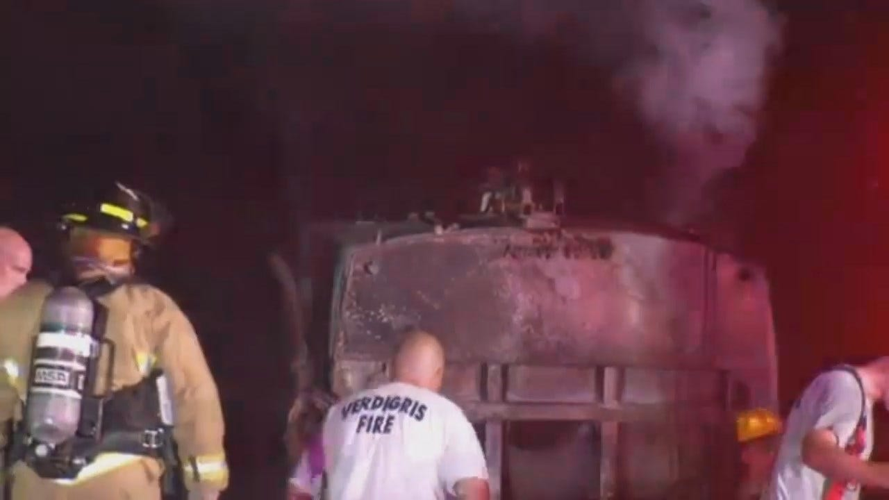 WEB EXTRA: Video From Scene Of Catoosa Trash Truck Fire
