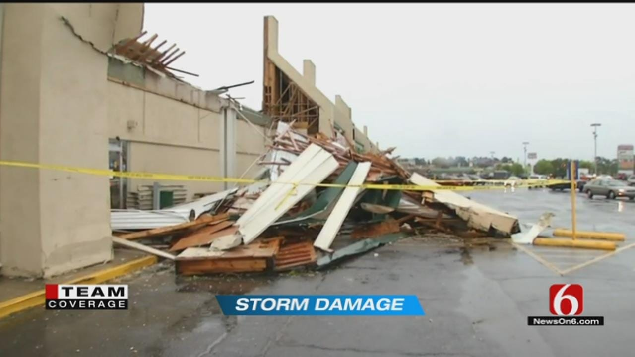 Cleanup Crews Clearing Damage At Muskogee Hobby Lobby