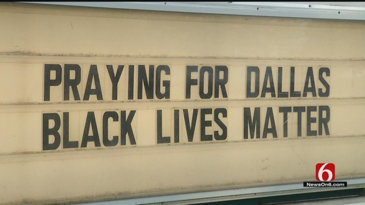 Tulsa Church Appalled After Sign Rearranged To Racial Slur