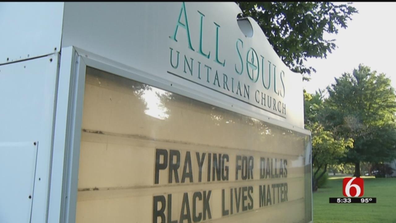 Tulsa Church Appalled Sign Rearranged To Racial Slur
