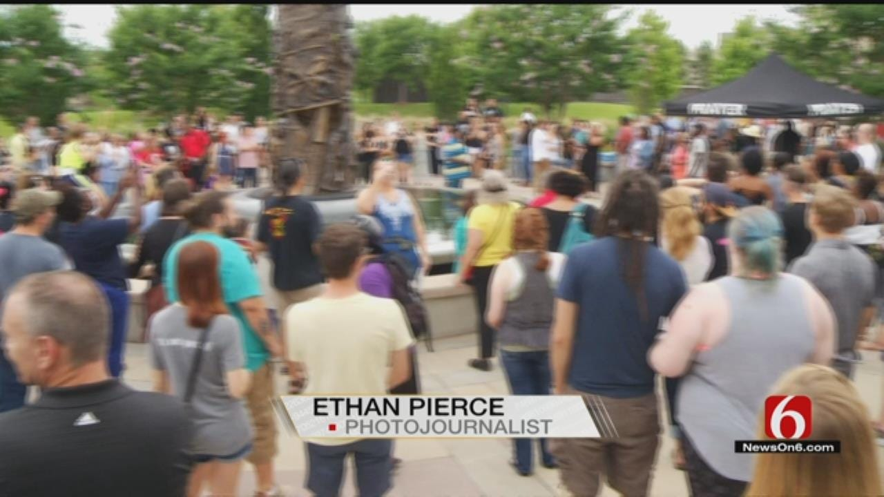 Tulsans Call For Peace, Love In Light Of Recent Tragedies
