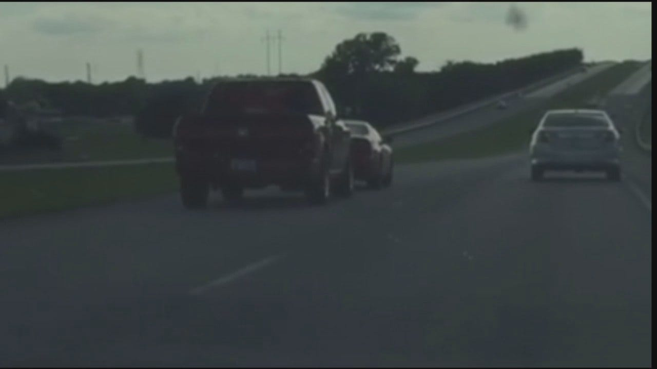 WATCH NOW: Truck Forces Teens Off The Road In Muskogee