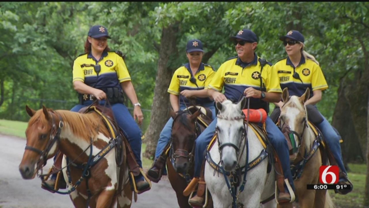 Rogers County Mounted Patrol Making The Rounds At Lake Oologah