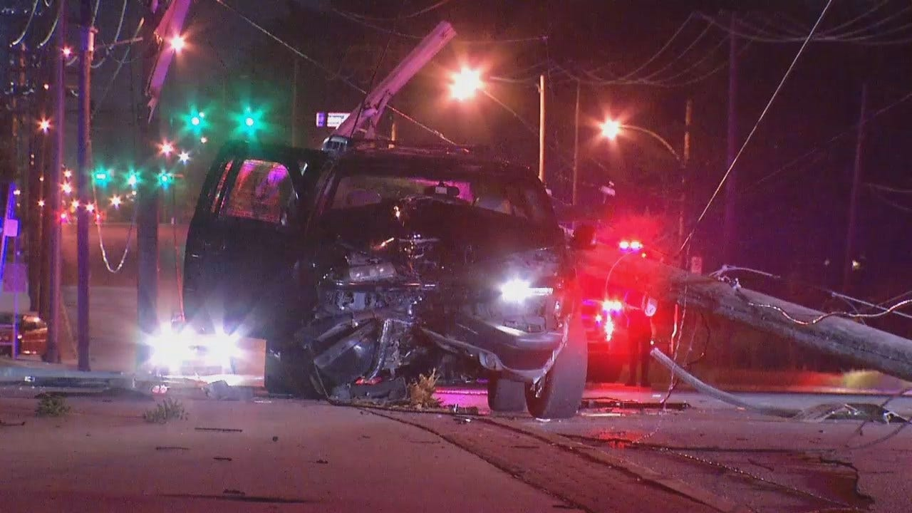 Coughing Fit Sends Tulsa Woman Crashing Into Power Pole