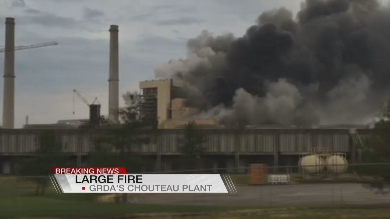 WEB EXTRA: GRDA On Chouteau Plant Fire