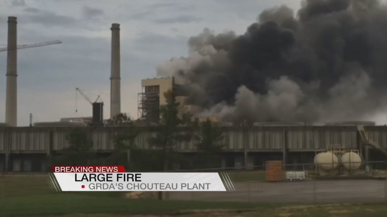 GRDA: Chouteau Plant Catches Fire After Lightning Strike