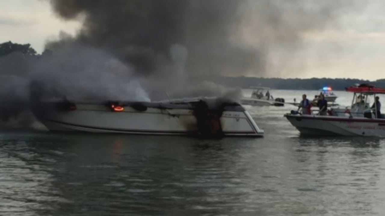 GRDA: At Least One Injured In Boat Fire On Grand Lake