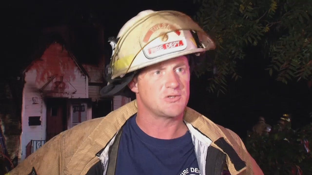 WEB EXTRA: Tulsa District Fire Chief Nate Morgans Talks About The Fire