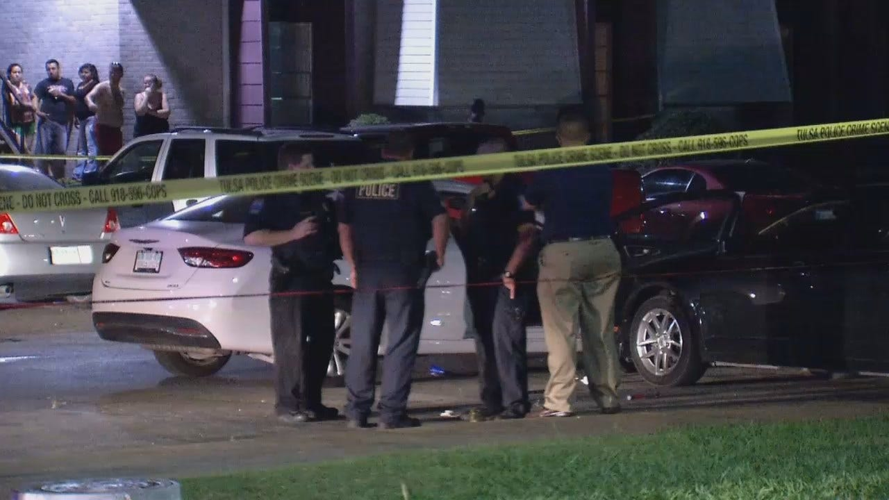 WEB EXTRA: Video From Scene At Tulsa Apartment Complex Where Altercation, Death Occurred