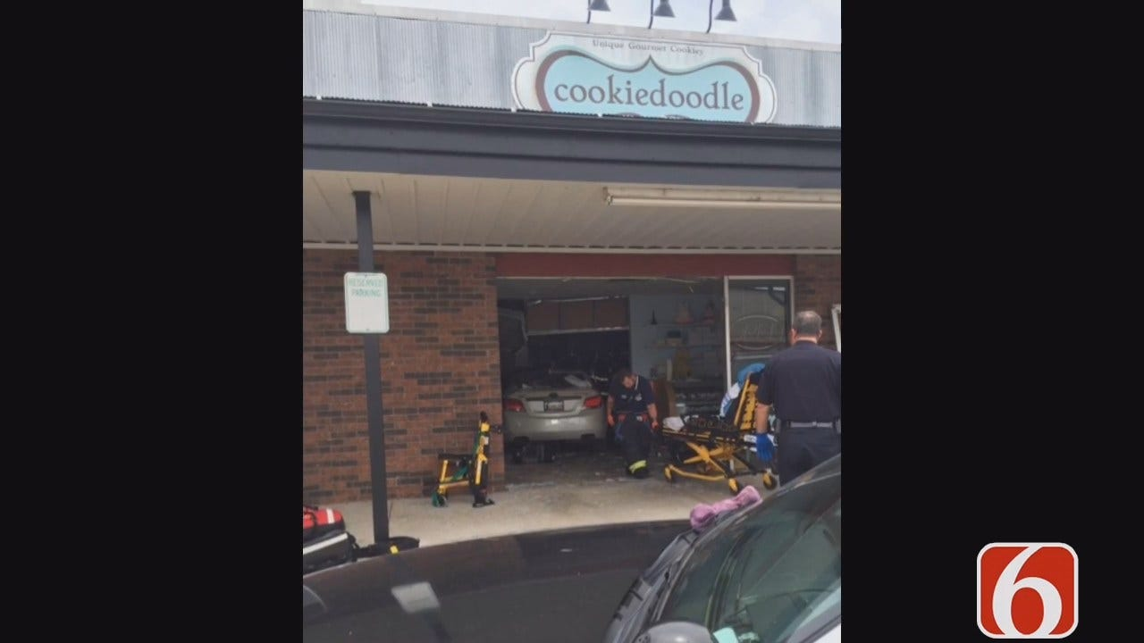 Lori Fullbright: Four People Hurt When Car Crashes Into Jenks Cookie Store