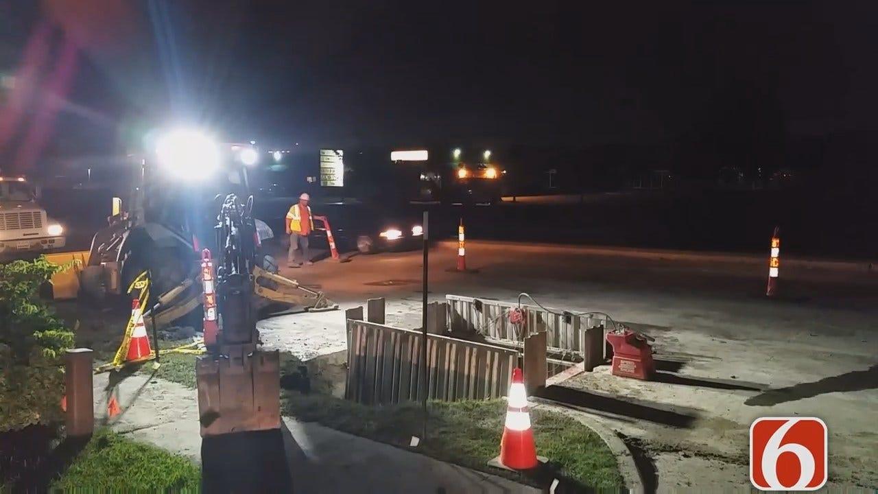 Dave Davis Reports On Tulsa Water Line Repair