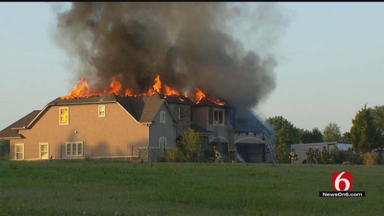 Fire Consumes Luxury Home Near Verdigris