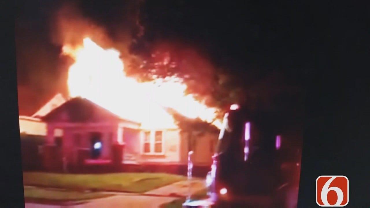 Dave Davis: Viewer Video Of Tulsa House Fire