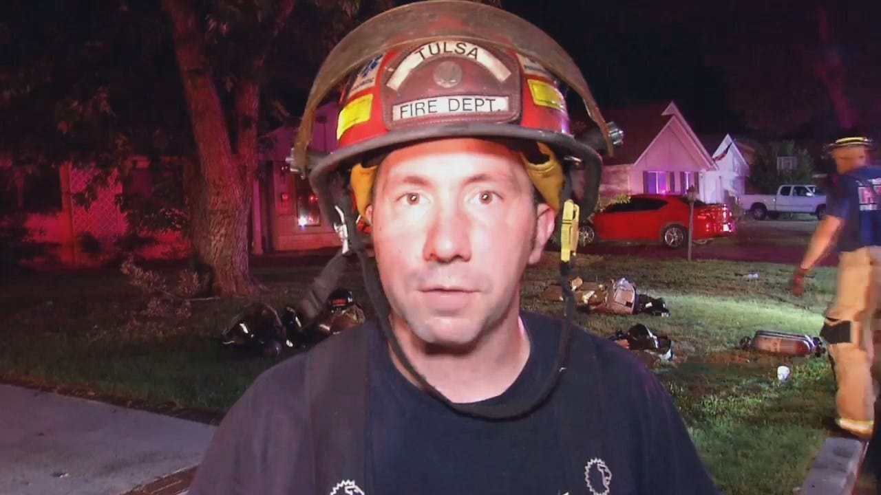 WEB EXTRA: Tulsa Fire Captain Jeremy Land Talks About The Fire