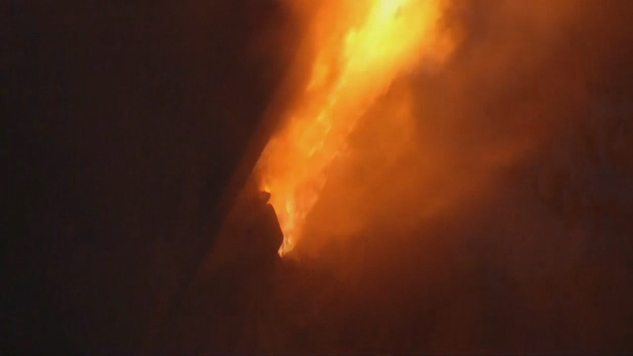 WEB EXTRA: Video Of Sapulpa House Fire Including Video Shot By Brad Dearman